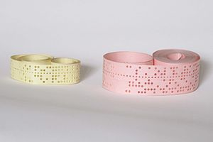 Example of punched paper tape