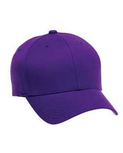 A 6 panel cap with the seam down the middle
