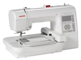 Example of a home embroidery machine