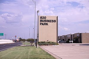 820 Business Park sign at entry to TheEmbroideryWarehouse